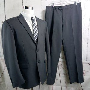 Monaco Retro Paris 44R 2 Button Charcoal 2pc Suit